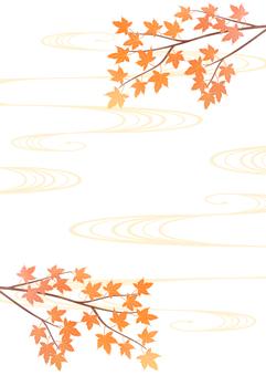 美麗的秋葉和日本背景