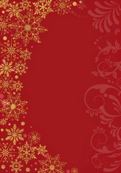 クリスマス_金_赤背景_縦2312