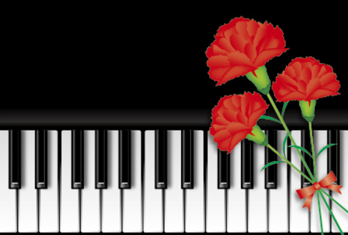 Piano and Carnation 1