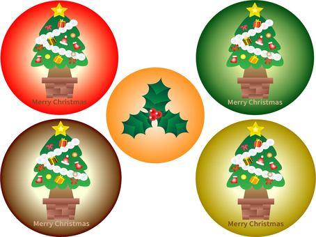 聖誕樹圖標集