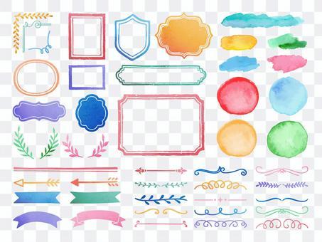 水彩畫框和裝飾格/裝飾套