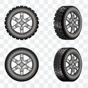 無釘和普通輪胎