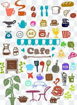 Cafe style stamp set