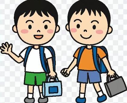 兒童男孩學校的顏色