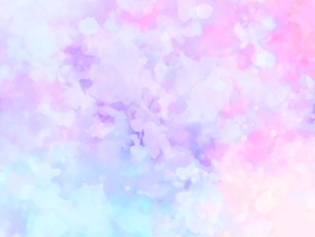 夢想可愛的粉彩閃光水彩背景