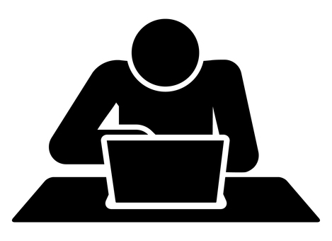 Person who operates a personal computer Pictogram