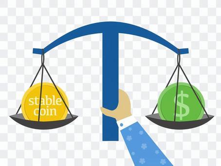 穩定的硬幣美元互鎖模式
