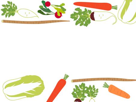 冬季蔬菜架蘿蔔、胡蘿蔔等。