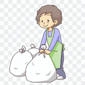 Illustration of garbage removal