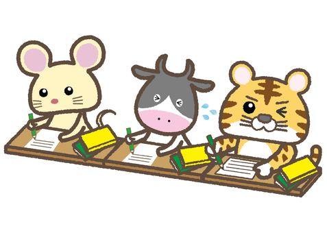 Animals / study / work (rats / cows / tora)