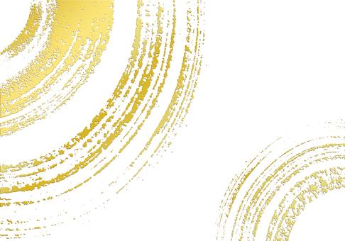 Celebration / gift / new year image brush writing background gold leaf