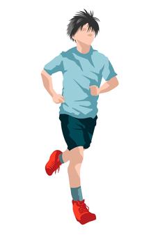 慢跑馬拉松選手