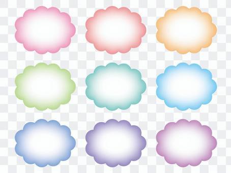 粉彩mokumoku框架集