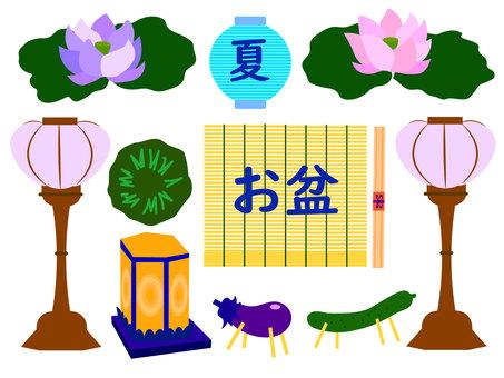 盂蘭盆節裝飾插圖集 2