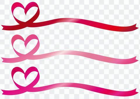 리본 하트 프레임 프레임 배경 분홍색 빨간색 라인