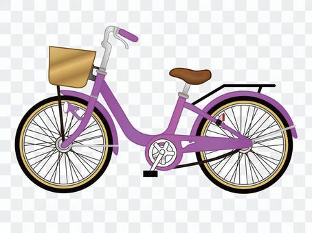 自行车_紫色
