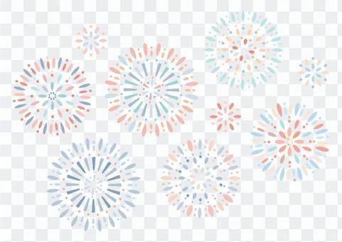 Colorful summer fireworks set 1