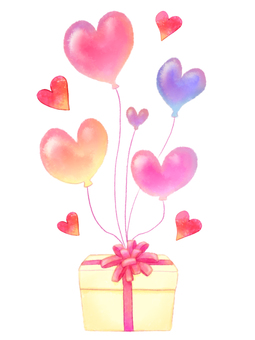 心形氣球禮物盒材料