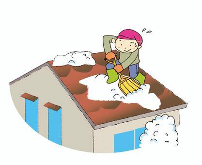 Snow scraping