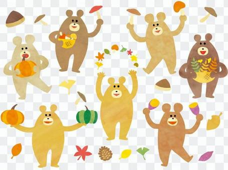 秋 収穫祭 クマ セット