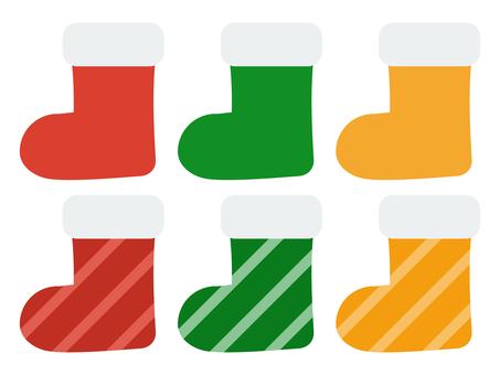Christmas color sock set