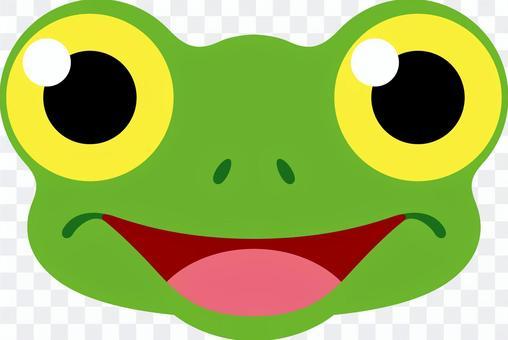 Frog face smile