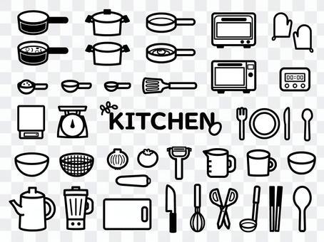 廚房圖設置單色