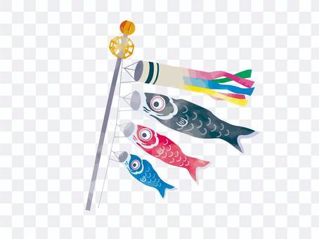 鯉魚旗水彩風格