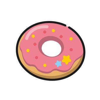 Strawberry chocolate donuts