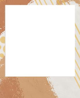 現代寶麗來相框橙色