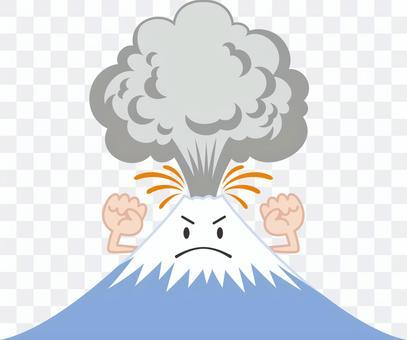 噴火する火山のキャラクター
