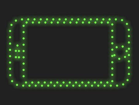 智能手機照明圖標材質:綠色
