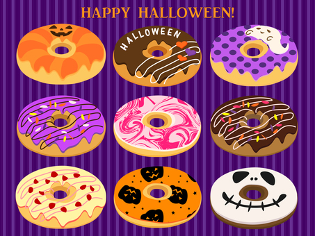 Halloween donut set