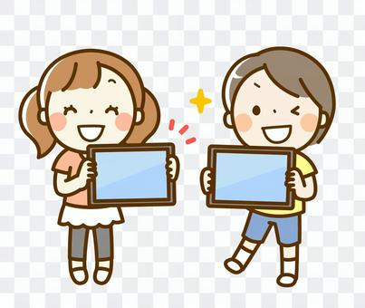 平板電腦和孩子們