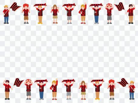 紅色和黑色的支持者