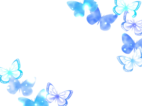 Watercolor style butterfly illustration background
