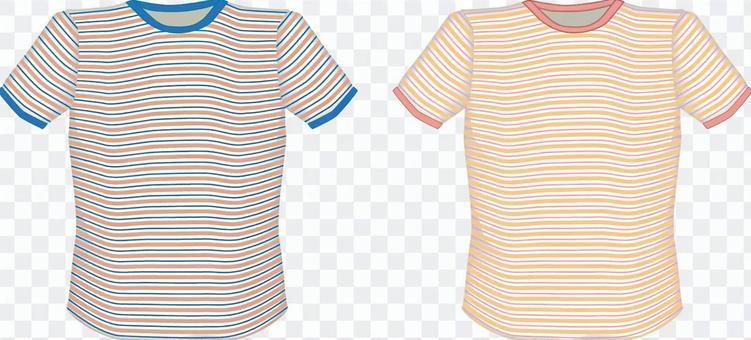 Tシャツ シャツ 衣類 ボーダー 半袖