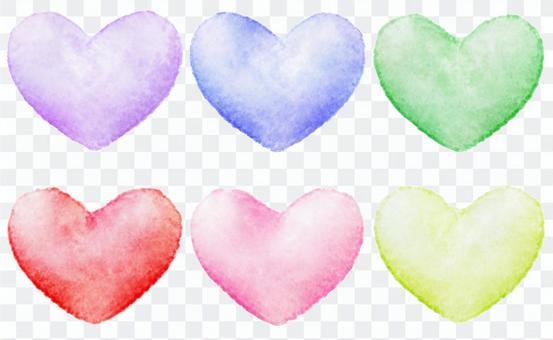 Watercolor Heart · Multicolored