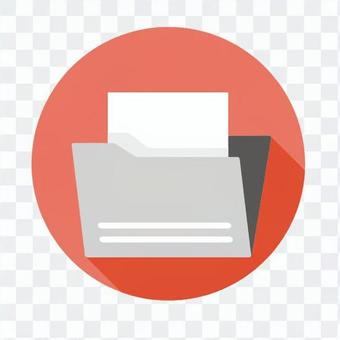 Flat icon - folder containing the file