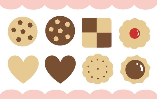可愛的餅乾圖