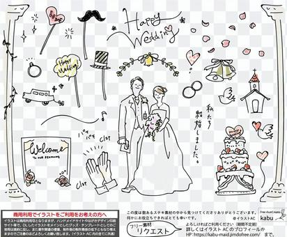 可能用於婚禮的婚禮插圖