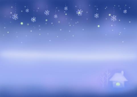 冬天的景色和雪