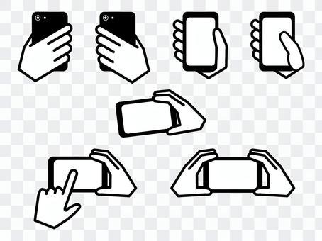 操作智能手機的手機
