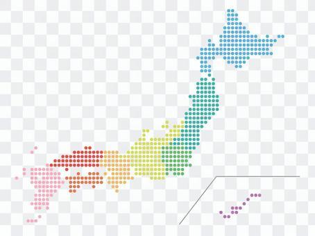 日本地图(点)