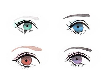 Hand-painted eye illustration 3 (4 types)