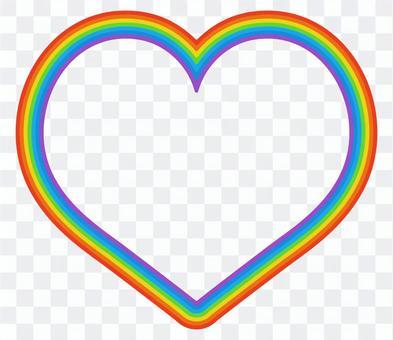 ハート型の虹