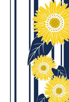 背景/框架材料復古向日葵