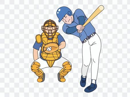 Batter and catcher 2