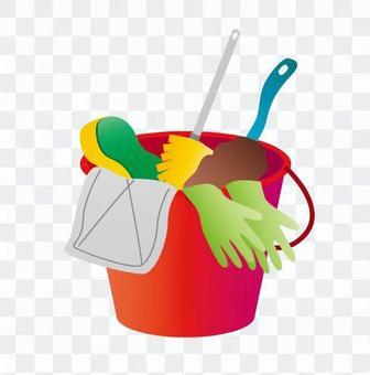 清潔用具,水桶,紅色