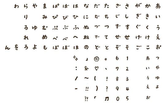 AIUEO / numbers / symbols